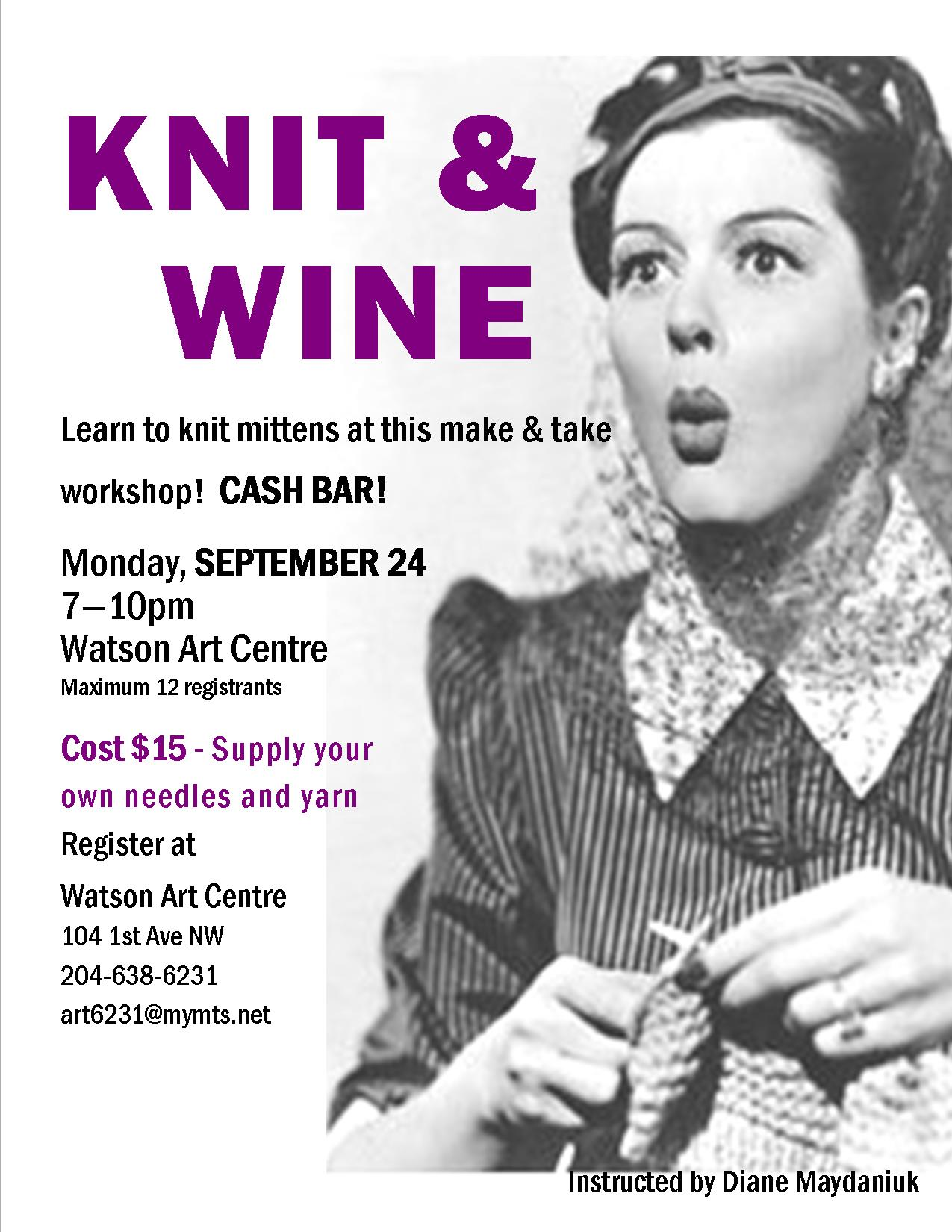 2018 Sept Knit Wine Poster