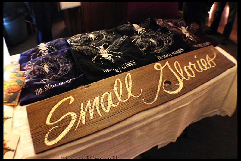 Small Glories Merch Table
